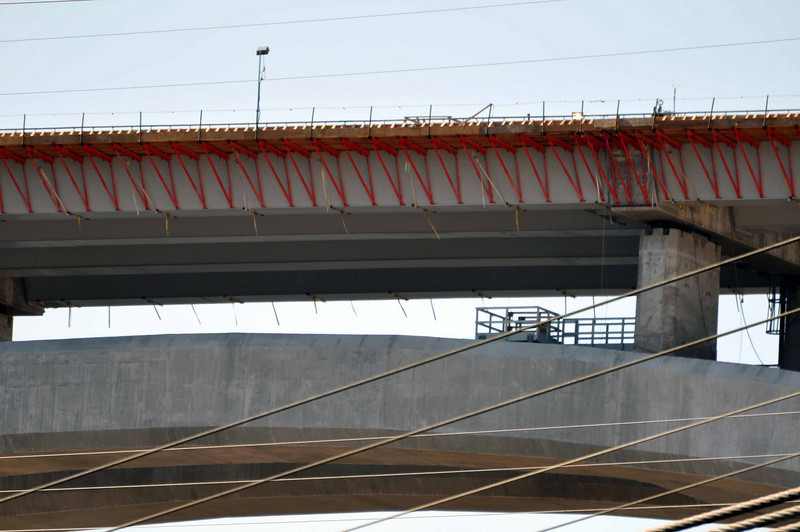 Hoover Dam 3/26/10. Bridge, under construction.