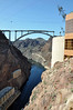 Hoover Dam 3/26/10. The view of the new bridge from the dam (close to the Nevada side).
