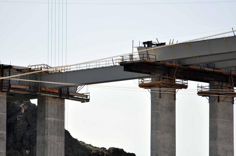 Hoover Dam 3/26/10. Spanning the new bridge.