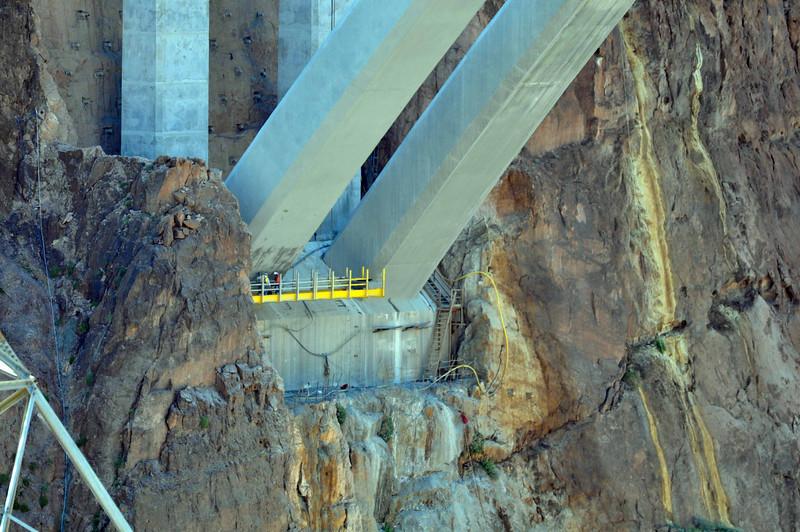 Hoover Dam 3/26/10. Bridge supports on the Arizona side.
