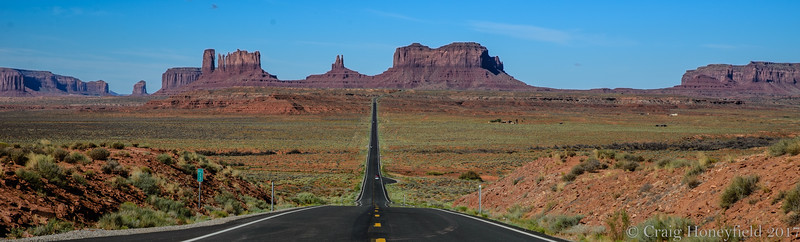 Famous Highway shot looking back into Monument Valley