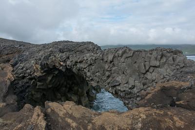 Basaltformatie op Dyrhólaey