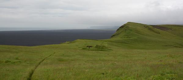 Hjörleifshöfdi met zicht langs de kust richting Vík