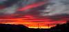 Sunset over the eastern Sierra (and propane tank trucks).