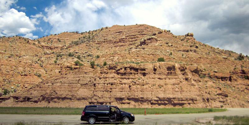 U.S. 40 rest stop on the way to Vernal, Utah.
