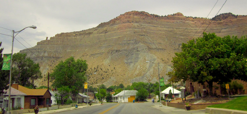 Entering Helper, Utah.