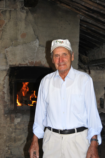 """We had a couple of locals come up to our farm house/villa and make us traditional, fire baked pizza in the villas """"cook shed"""".  It was unbelievable - and so cool to watch!  The older gentleman, pictured here, doesn't speak a word of English.  Loved it!"""