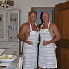 """Our """"guests"""" were promised topless servers!  Nicely done, Jeff and Mark!"""