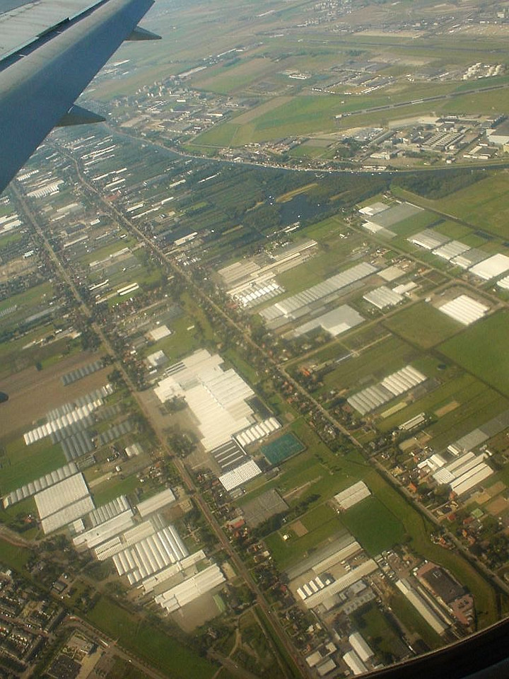 Take off... Typical Dutch landscape