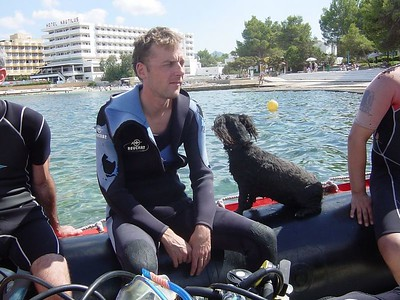 Second dive: Marc contemplating who would be his buddy during the second dive as Sjoerd didn't go....