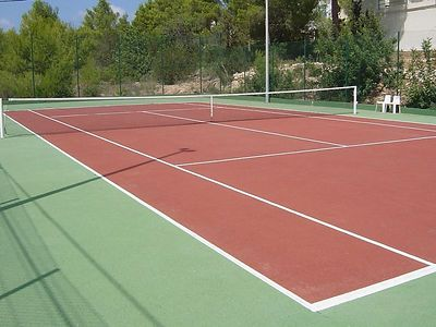 The tennis court (duuh...)