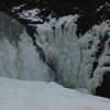Frozen water at Gulfoss