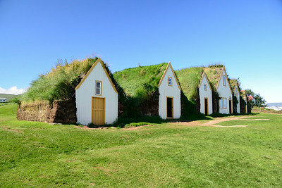 The Glaumbaer Farm. Building made from turf since wood was not available as a construction material.