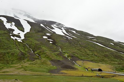 One our first driving day in Iceland we discovered the crazy (sometimes) one lane (sometimes) 7km long tunnels that connect villages between mountain. Here we took a breather between tunnels.
