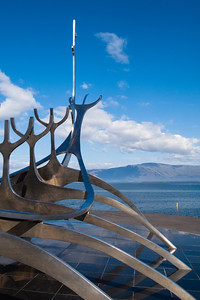 The Sun Voyager in Reykjavik harbor