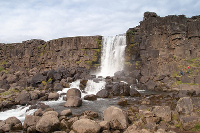 waterfall (Oxarafoss) at Thingvellir