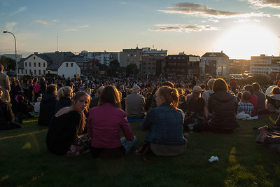 Culture Night 2012 outdoor concert  We stayed and listened to the first artist, Eivør