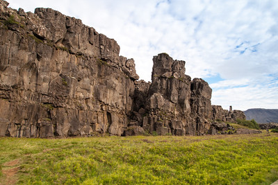 Thingvellir: rock formations are part of the mid-atlantic rift