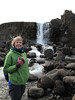 Small waterfall at Thingvellir. We had not yet grasped how common waterfalls are in Iceland.
