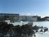 A photo looking at the back of the building of the Blue Lagoon.