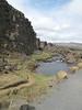 Cliffs and stream at Thingvellir