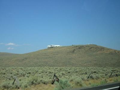 Oregon Trail Interpretive Center (on ridge)