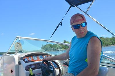 Captain Bob - piloting the vessel