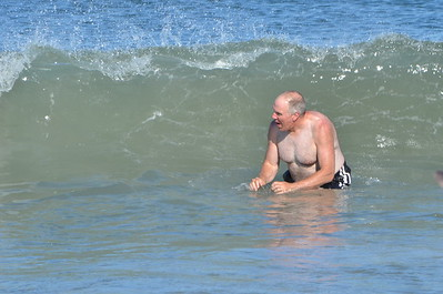 There he goes - complete submersion.