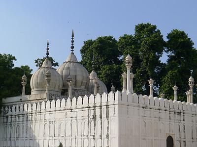 Moti Masjid (Red Fort): Old Delhi, India