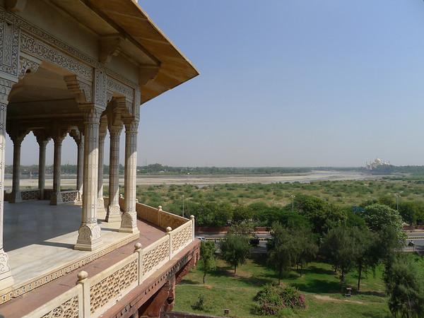 Musamman Murj (Agra Fort) View to Taj Mahal: Agra, India