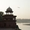 Taj Mahal River View: Agra, India