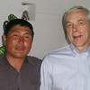 Kent Martin with our Mongolian Host.