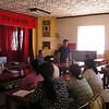 Presenting a talk in Xin Barag Zuoqi