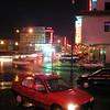 Downtown Hailar at night.