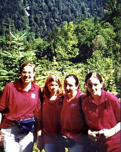 Scans from my trip with People 2 People Student Ambassadors to Western Europe, summer 1999. Group shot in the Black Forest. Western Europe with People to People Student Ambassadors, July 1999.