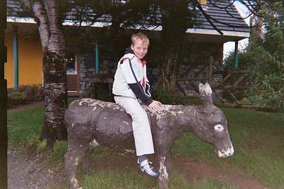 Declan on the donkey