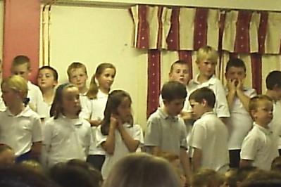 Declan's concert at school the night we got to Ireland