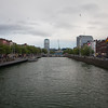 Liffey River looking east towards O'Connell Street