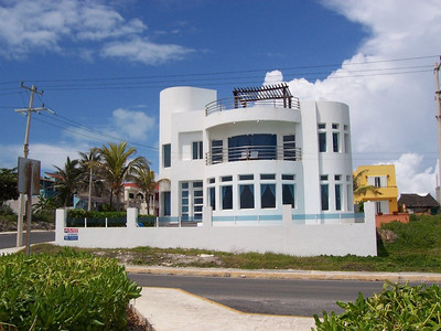 For a mere $800,000 you could live in this luxurious house near the middle of Isla Mujeres on the Carribean side.