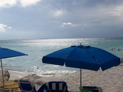 Pretty sunlight shimmering on the sea with a thunderstorm in the distance. It never rained while we were on Isla Mujeres but a daily afternoon storm is pretty normal for this time of year.