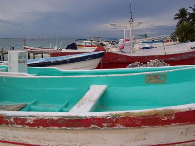 More panga fishing boats.