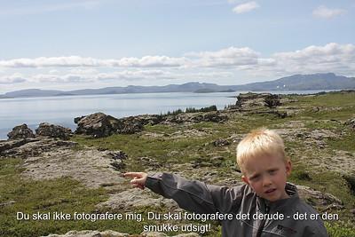 Du skal ikke fotografere mig, Du skal fotografere det derude - det er den smukke udsigt!