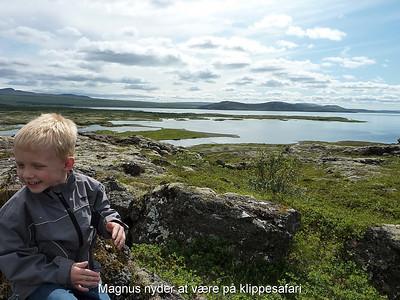 Magnus nyder at være på klippesafari