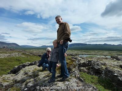 3 generationer på Thingvellir
