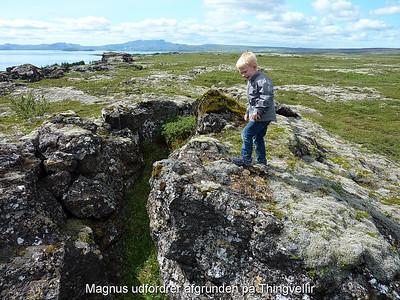 Magnus udfordrer afgrunden på Thingvellir