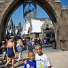 In front of Harry Potter World