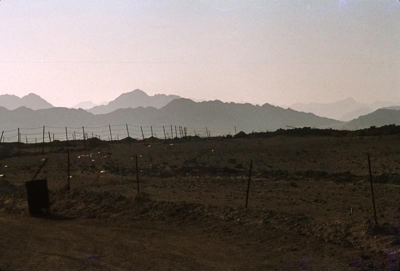 Minefield in the Negev, Israel.