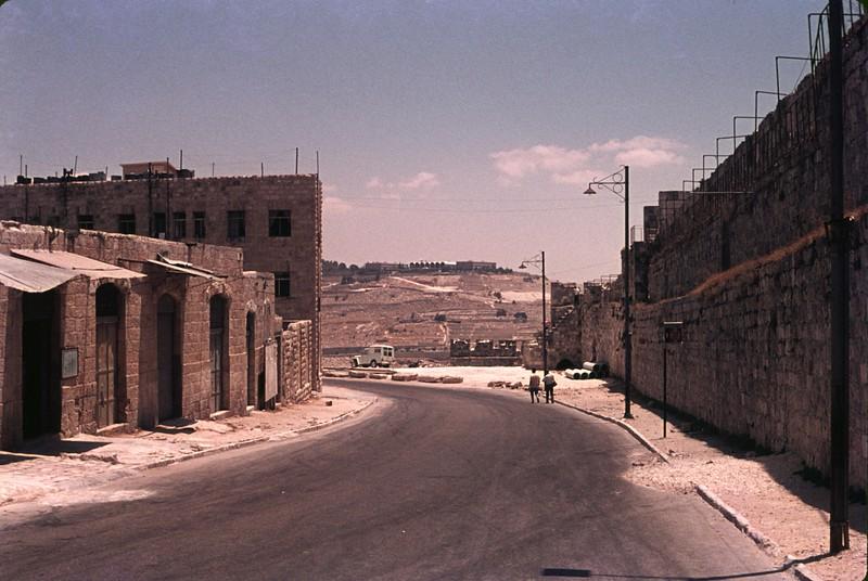 A street near the Jaffa Gate in the Old City of Jerusalem