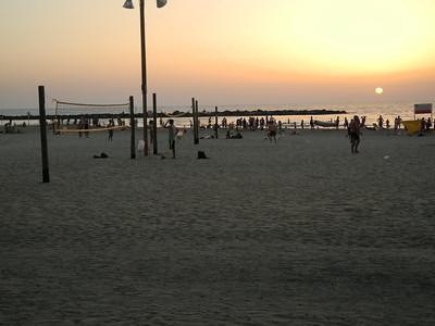 Sun setting on the Mediterranean Sea, 1st night in Tel Aviv