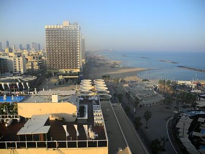 Sunrise, 1st morning in Tel Aviv, from our hotel balcony